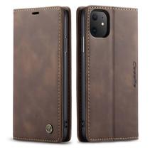 CaseMe - iPhone 11 hoesje - Wallet Book Case - Magneetsluiting - Donker Bruin