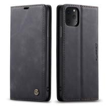 CaseMe - iPhone 11 Pro hoesje - Wallet Book Case - Magneetsluiting - Zwart