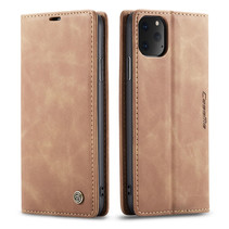 CaseMe - iPhone 11 Pro hoesje - Wallet Book Case - Magneetsluiting - Licht Bruin