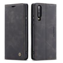 CaseMe - Huawei P30 hoesje - Wallet Book Case - Magneetsluiting - Zwart