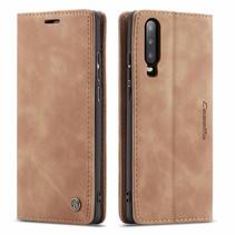 CaseMe - Huawei P30 hoesje - Wallet Book Case - Magneetsluiting - Licht Bruin
