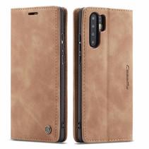CaseMe - Huawei P30 Pro hoesje - Wallet Book Case - Magneetsluiting - Licht Bruin