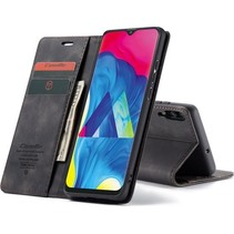 CaseMe - Samsung Galaxy A10 hoesje - Wallet Book Case - Magneetsluiting - Zwart