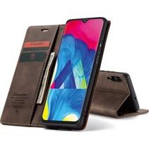 CaseMe - Samsung Galaxy A10 hoesje - Wallet Book Case - Magneetsluiting - Donker Bruin