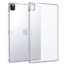 iPad Pro 12.9 (2020) cover - Rebound Soft Back Shell Case met Soft TPU Bumper - Clear White
