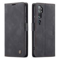 CaseMe - Xiaomi Mi Note 10 (Pro) hoesje - Wallet Book Case - Magneetsluiting - Zwart
