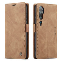 CaseMe - Xiaomi Mi Note 10 (Pro) hoesje - Wallet Book Case - Magneetsluiting - Licht Bruin