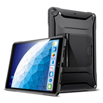 Apple iPad Air 10.5 hoes - Heavy-Duty Shock-Absorbent Protective Tough Armor Bumper Case - Zwart