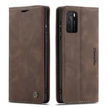 CaseMe - Huawei P40 hoesje - Wallet Book Case - Magneetsluiting - Donker Bruin