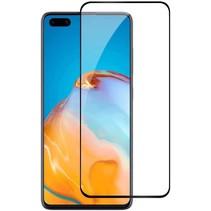 Huawei P40 Screenprotector - Full Cover Screenprotector - Gehard Glas - Zwart