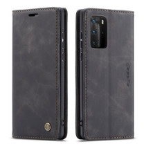 CaseMe - Huawei P40 Pro hoesje - Wallet Book Case - Magneetsluiting - Zwart