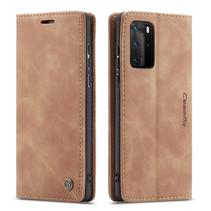 CaseMe - Huawei P40 Pro hoesje - Wallet Book Case - Magneetsluiting - Licht Bruin