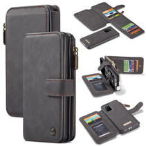 CaseMe - Samsung Galaxy S20 Plus hoesje - Wallet Book Case met Ritssluiting - Zwart