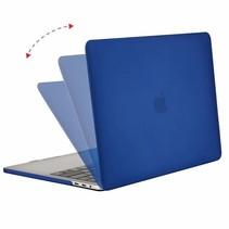 Macbook Pro 13 inch (2020) Hoes - Clip-On Hard Case - Donker Blauw
