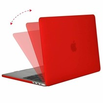 Macbook Pro 13 inch (2020) Hoes - Clip-On Hard Case - Rood