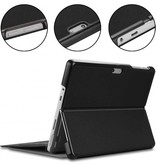 Case2go Microsoft Surface Go 2 hoes - Tri-Fold Book Case - Zwart