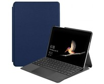 Microsoft Surface Go 2 hoes - Tri-Fold Book Case - Donker Blauw
