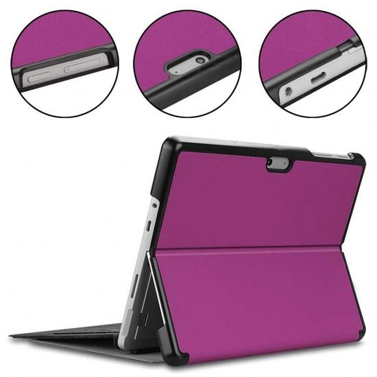 Case2go Microsoft Surface Go 2 hoes - Tri-Fold Book Case - Paars