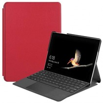 Microsoft Surface Go 2 hoes - Tri-Fold Book Case - Rood