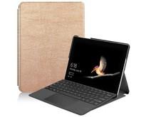 Microsoft Surface Go 2 hoes - Tri-Fold Book Case - Goud