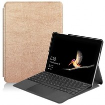 Microsoft Surface Go 2 hoes - Tri-Fold Book Case - Goud