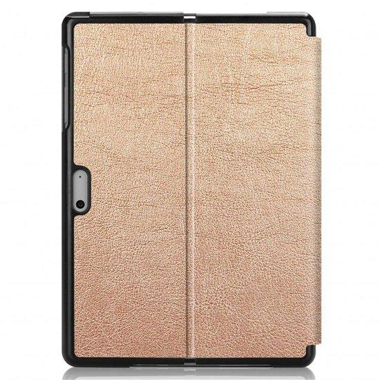 Case2go Microsoft Surface Go 2 hoes - Tri-Fold Book Case - Goud