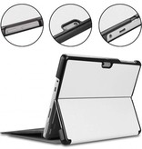 Case2go Microsoft Surface Go 2 hoes - Tri-Fold Book Case - Wit