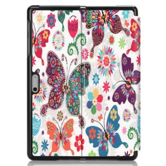Case2go Microsoft Surface Go 2 hoes - Tri-Fold Book Case - Vlinder