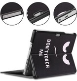 Case2go Microsoft Surface Go 2 hoes - Tri-Fold Book Case - Don't Touch Me