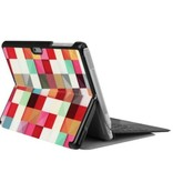 Case2go Microsoft Surface Go 2 hoes - Tri-Fold Book Case - Blocks