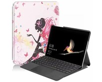 Microsoft Surface Go 2 hoes - Tri-Fold Book Case - Flower fairy