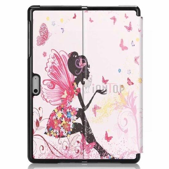Case2go Microsoft Surface Go 2 hoes - Tri-Fold Book Case - Flower fairy