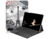 Microsoft Surface Go 2 hoes - Tri-Fold Book Case - Eiffeltoren
