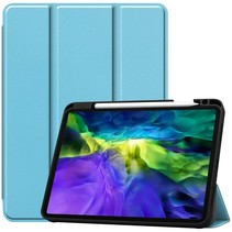 iPad Hoes voor Apple iPad Pro 2020 Hoes Cover - 11 inch - Tri-Fold Book Case - Apple Pencil Houder - Licht Blauw