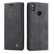 CaseMe - Huawei P Smart (2019) hoesje - Wallet Book Case - Magneetsluiting - Zwart
