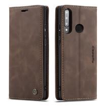 CaseMe - Huawei P30 Lite hoesje - Wallet Book Case - Magneetsluiting - Donker Bruin
