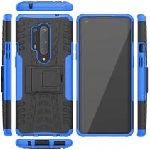 OnePlus 8 Pro Hoesje - Schokbestendige Back Cover - Blauw
