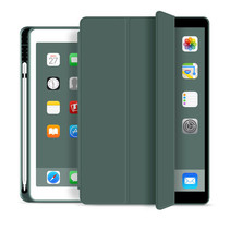 WIWU - iPad 10.2 2019 / 2020 / 2021 hoes - PU Leren Tri-Fold Book Case - Groen