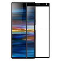 Sony Xperia L4 Screenprotector - Full Cover Screenprotector - Case-Friendly - Zwart