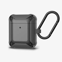 Apple Airpods 1/2 hoesje - Extreme Armor Siliconen beschermhoes - 3.0 mm - Zwart