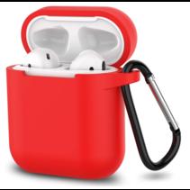 Apple Airpods hoesje - Siliconen beschermhoes met opdruk - 3.0 mm - Rood