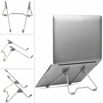 Universele Verstelbare & Opvouwbare Laptop Standaard  Aluminium Stand - Zilver