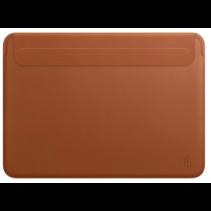 WIWU Skin Pro II - MacBook Sleeve - 15.4 inch - PU leer - Bruin