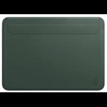 WIWU Skin Pro II - MacBook Sleeve - 15.4 inch - PU leer - Groen
