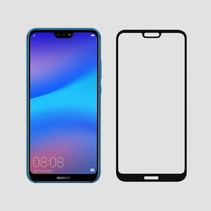 Huawei P20 Lite - Full Cover Screenprotector - Zwart