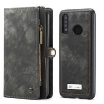 CaseMe - Huawei P30 Lite hoesje - 2 in 1 Wallet Book Case - Zwart