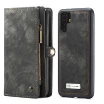 CaseMe - Huawei P30 Pro hoesje - 2 in 1 Wallet Book Case - Zwart
