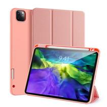 iPad Pro 12.9 (2020) hoes - Dux Ducis Domo Lite Book Case met stylus pen houder - Roze