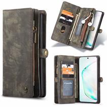 CaseMe - Samsung Galaxy S20 Ultra hoesje - 2 in 1 Wallet Book Case - Zwart