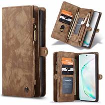 CaseMe - Samsung Galaxy S20 Ultra hoesje - 2 in 1 Wallet Book Case - Bruin